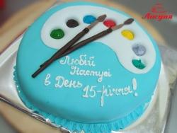 #д150(37) торт для художника палитра