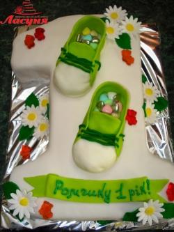#д150(46) торт на 1 годик с топиками