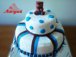 #д150(6) торт с пуговицами и медвежонком