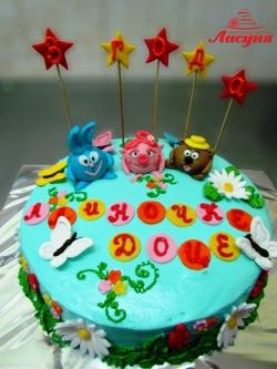 #д150(7) торт Смешарики