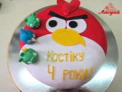 #д160(11) торт Злые Птички Angry Birds