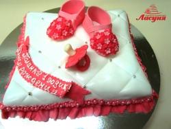 #д160(12) торт на 1 годик для девочки