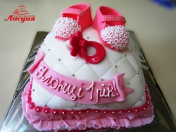 #д160(13) торт на 1 годик для девочки