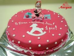 #д160(14) торт для девочки