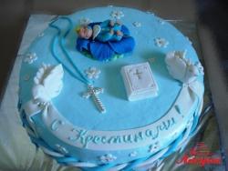 #д160(27) торт на крестины для мальчика