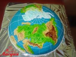 #д160(28) торт Глобус, торт планета Земля
