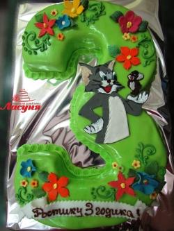 #д160(42) торт на 3 года Том и Джерри