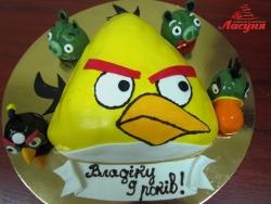 #д160(52) торт Злые Птички Angry Birds