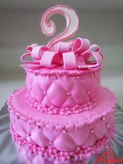 #д160(60) торт на 2 годика для девочки