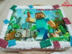#д160(64) фото торт Майнкрафт Minecraft