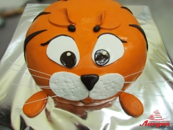 #д160(65) торт толстый рыжий кот