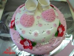 #д160(66) торт для девочки с топиками