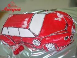 #д180(13) торт машина для девочки
