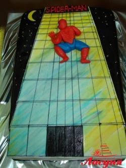 #д180(17) торт Спайдер Мен Spider Man