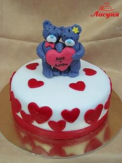#д180(20) торт Мишки с сердцем