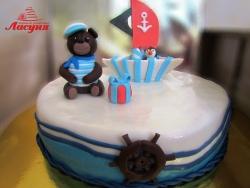 #д180(21) торт Моряк Мишка