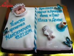 #д180(22) торт книга на крещение