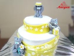 #д180(23) торт с плюшевыми мишками