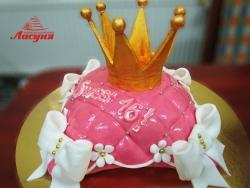 #д180(35) торт корона для девушки