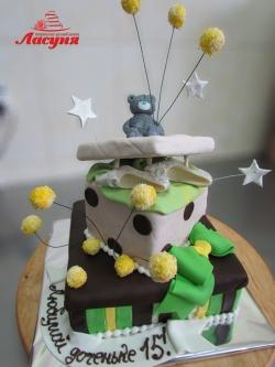 #д180(37) торт коробка с подарками