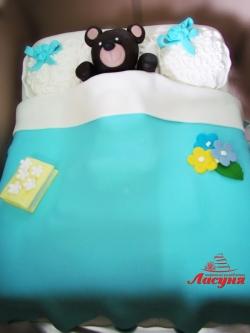 #д180(46) торт медвежонок в постельке