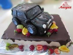#д180(48) фруктовый торт с машинкой