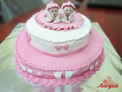 #д180(49) торт для двойнят близнецов