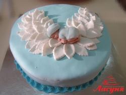 #д180(53) торт для мальчика зимний ангелок