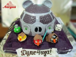 #д200(11) торт Злые Птички Angry Birds