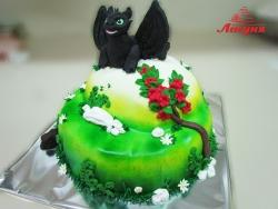 #д200(22) торт дракон Беззубик