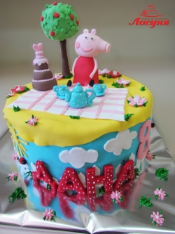 #д200(23) торт Свинка Пеппа Peppa Pig