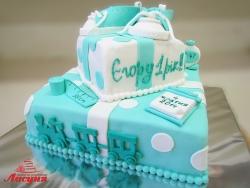 #д220(2) торт на 1 годик для мальчика