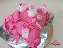 #д220(3) торт на 1 годик для девочки
