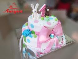 #д220(4) торт на 1 годик для ребёнка