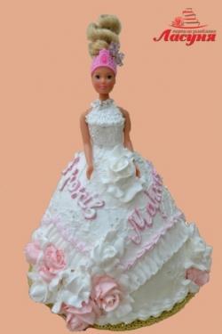 #д95(21) торт платье для куклы