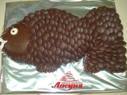 #д95(29) торт шоколадная рыбка