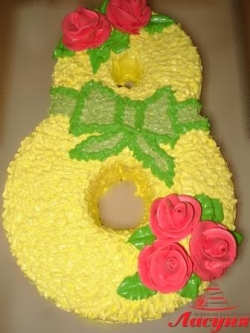 #д95(47) торт на 8 марта