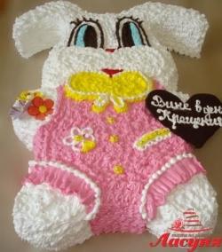 #д95(58) торт кролик