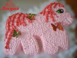 #д95(60) торт розовая лошадка