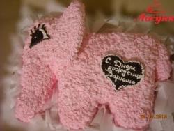#д95(69) торт розовый слоник