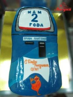 #п180(25) торт для компании QIWI