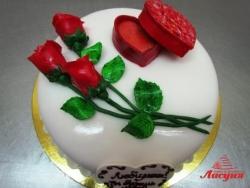 #п180(33) торт для признания в любви и предложения руки и сердца