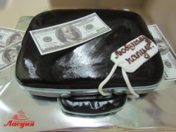 #п180(44) торт для папы кейс дипломат с деньгами