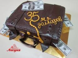 #п180(45) торт кожаный дипломат кейс с долларами