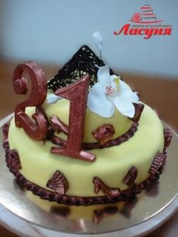 #п180(5) торт на 21 год для девушки