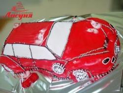 #п180(6) торт машина для девочки