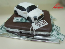 #п200(10) торт кейс с долларами и машина