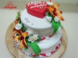 #п200(13) торт для мамы с цветами