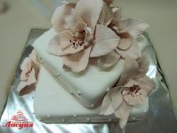 #п200(18) торт с орхидеями