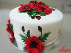 #п200(32) торт в украинском стиле с маками